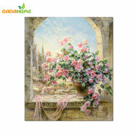 Digital Painting DIY Hand Painted Decoration Window Scenery Wall Art Painting By Numbers Canvas Painting For