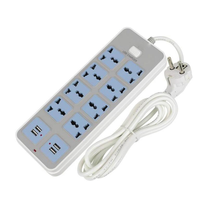 Maison Intelligente Power Strip Socket Extension 10A 2500 W Rapide De Charge 4 USB Port 8 Prises Universelles Adaptateur ROYAUME-UNI/EU/AU Plug