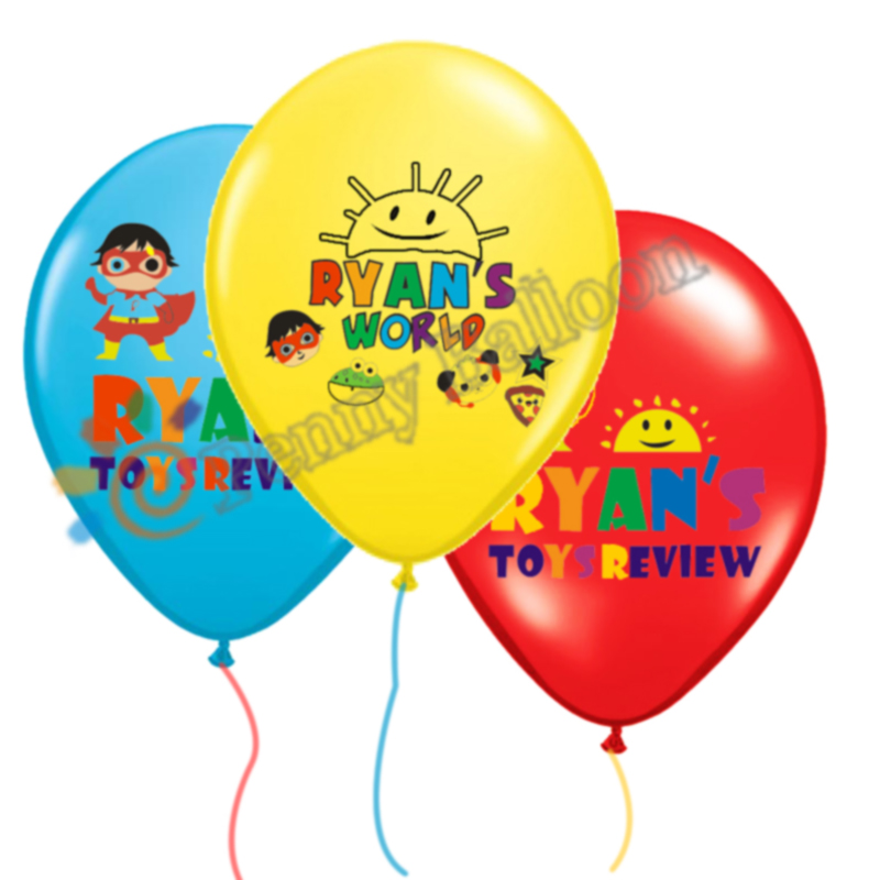 12pcs/lot Ryan's World Balloons Ryans toys review Balloon