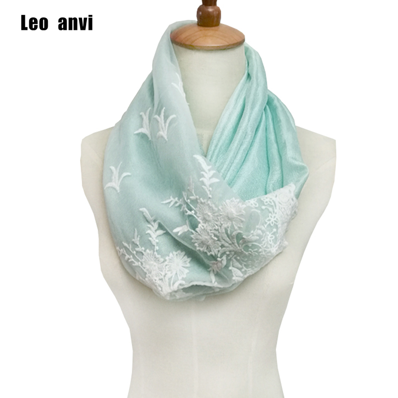 2018 Design summer silk Cotton Lace ring Infinity Chunky women Scarf Fashion Women Scarves foulard femme cachecol