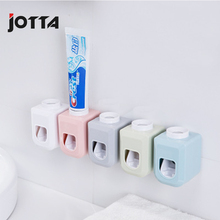 Automatic toothpaste back stickers suction wall lazy squeeze artifact toothbrush holder rack