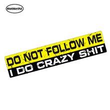 HotMeiNi Car Styling Do Not Follow Me Decal 3D Sticker Vinyl Funny Dumper Jdm 4x4 Offroad SUV Waterproof Accessories 15*3cm