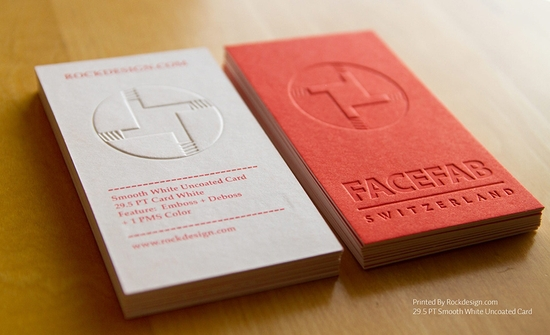 New Arrival Customized Letterpress Printing Business Cards Vertical