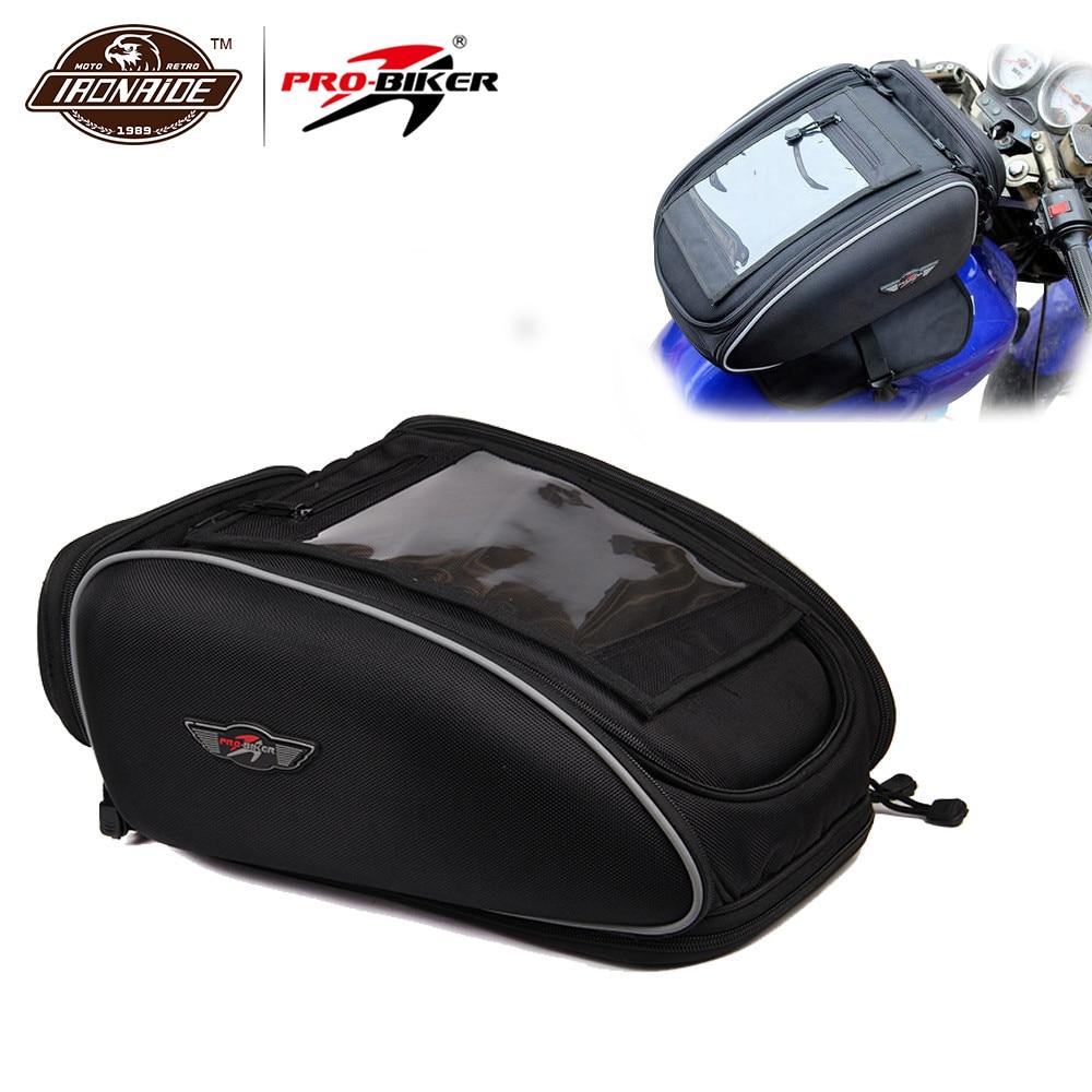 Sac de moto PRO BIKER | Sac de moto Mochila Maletas noir Bolso Motocicleta sacs de réservoir de carburant magnétique moto étanche