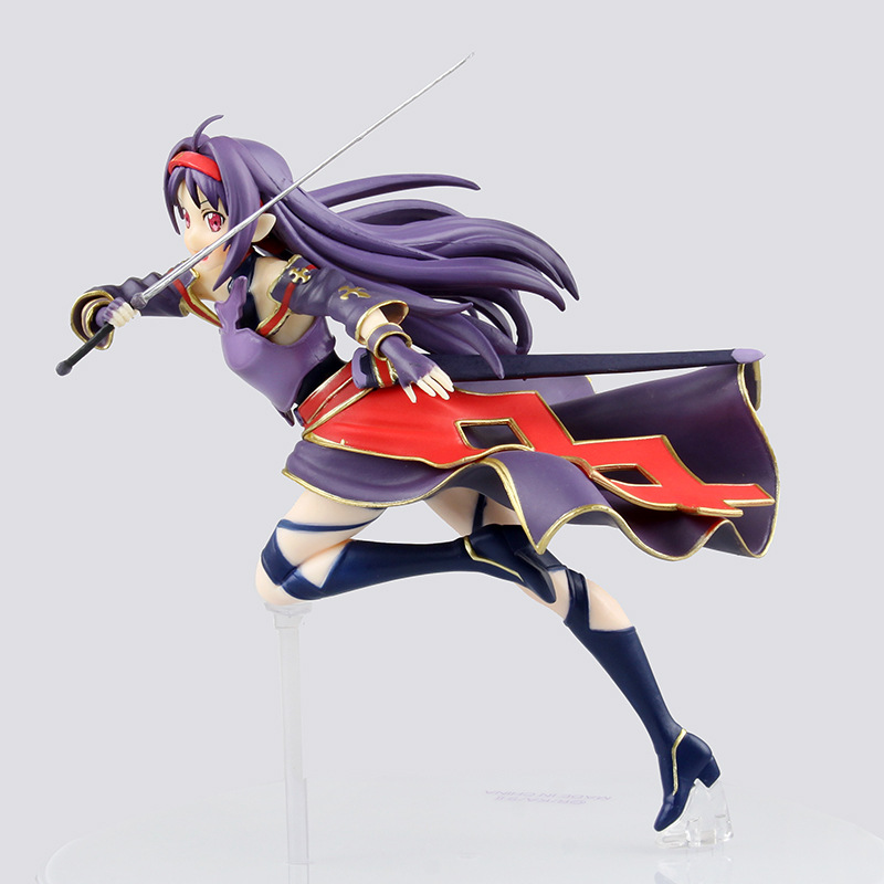 ZXZ 18cm Japanese Anime Sword Art Online Konno Yuuki Action Figure PVC Collection Figures Toys Gift Decoration Doll ynynoo to love darkness yuuki mikan action figure wedding dress underwear ver mikan yuuki pvc figure toy brinquedos anime 24cm
