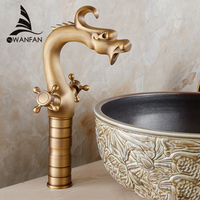 Free Shipping Wholesale And Retail Vintage Dragon Shape Bathroom Sink Basin Faucet Reto Style Hot And