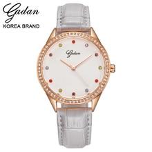 Bright beautiful and colorful surface monolayer leather strap seiko quartz movement classical joker elegant fashion lady's wrist