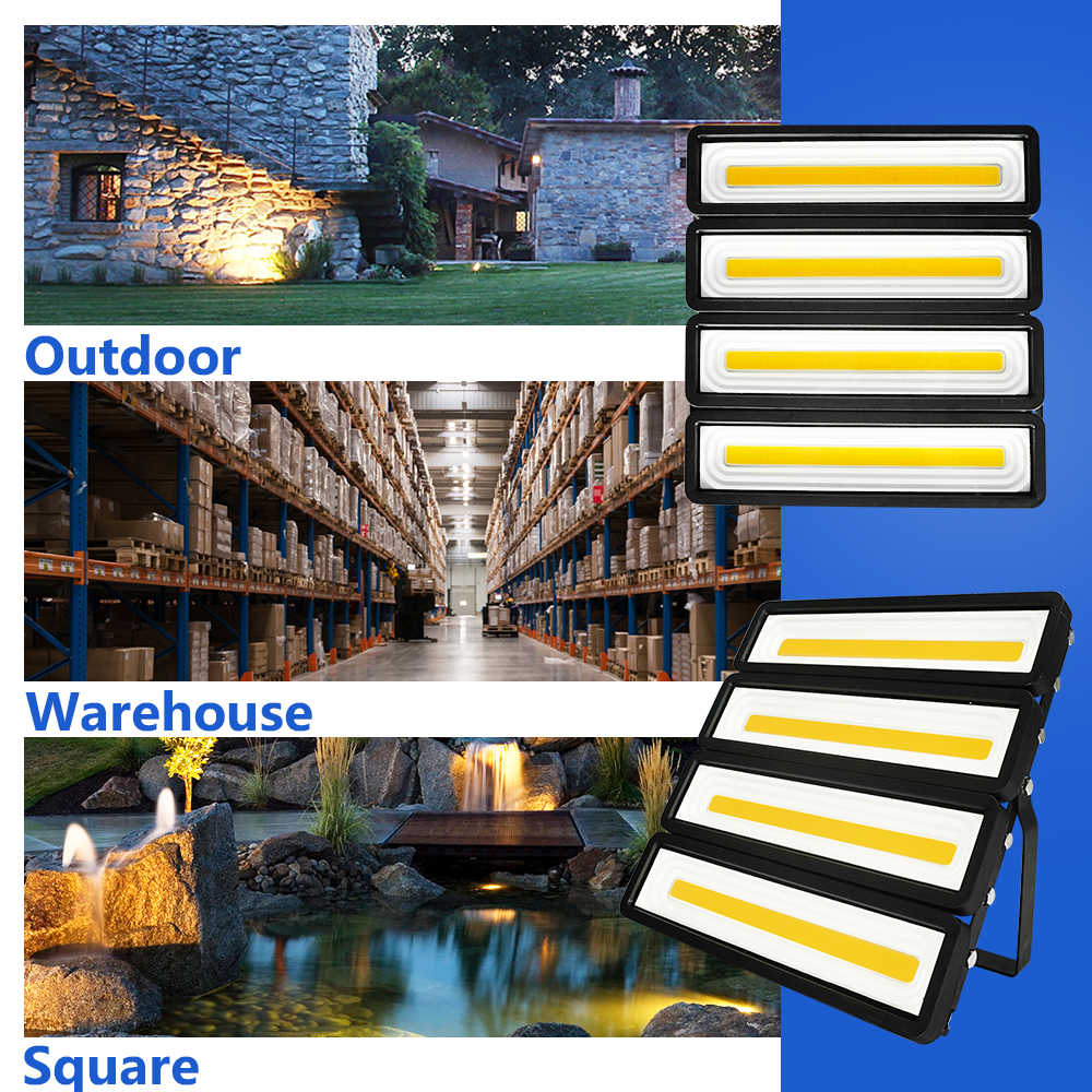 LUCKYLED Led Spotlight Outdoor Floodlights 220V 240V Waterproof Led Flood Light 200W 150W 100W 50W Reflector Projector Lighting