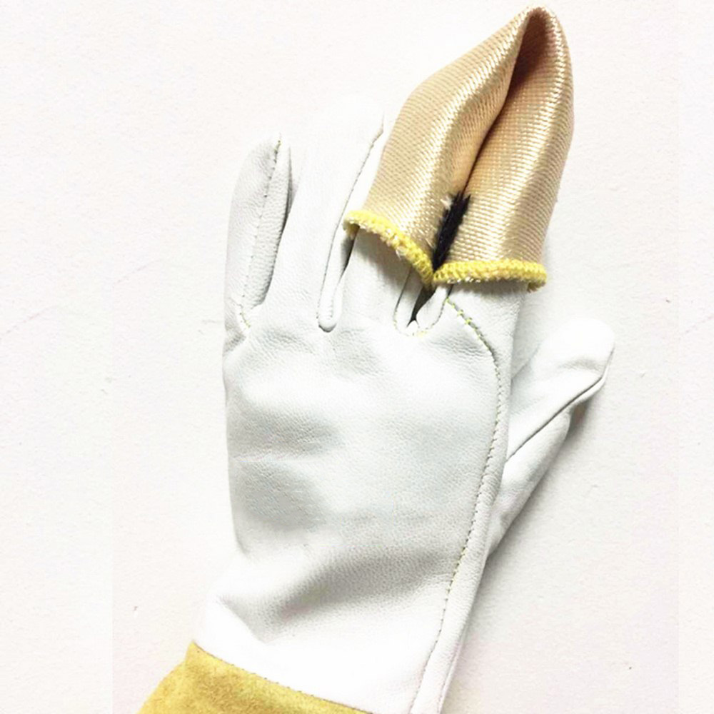 Welding Finger Sleeve Tips Welding Gloves Insulation High Temperature Resistant Fiberglass Welding Tools For Protection