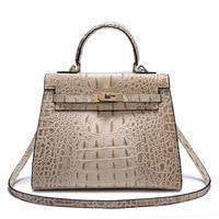 Fashion Luxury handbags women bags designer three dimensional relief crocodile pattern bulk Calfskin women messenger bags