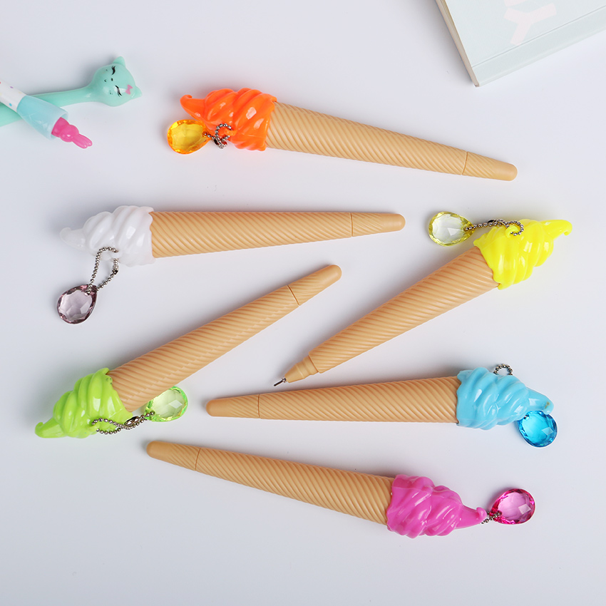 6PCS Cute Small Fresh Candy Color Ice Cream Gel Pen Creative Gift School Supplies Random Color