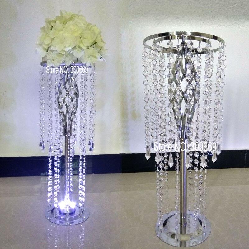free shipment led acrylic crystal wedding centerpiece table centerpiece for wedding decoration road leads pillar of