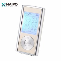 Naipo Dual LCD Digital Low Frequency Therapy Therapeutic Backlight Screen Tens Machine Electrical Muscle MP3 Stimulator