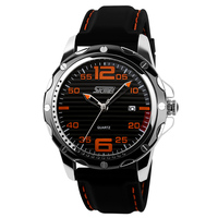 New Famous Brand Rubber Fashion Quartz Men Casual Watch Calendar Date Work 30M Waterproof Wristwatch