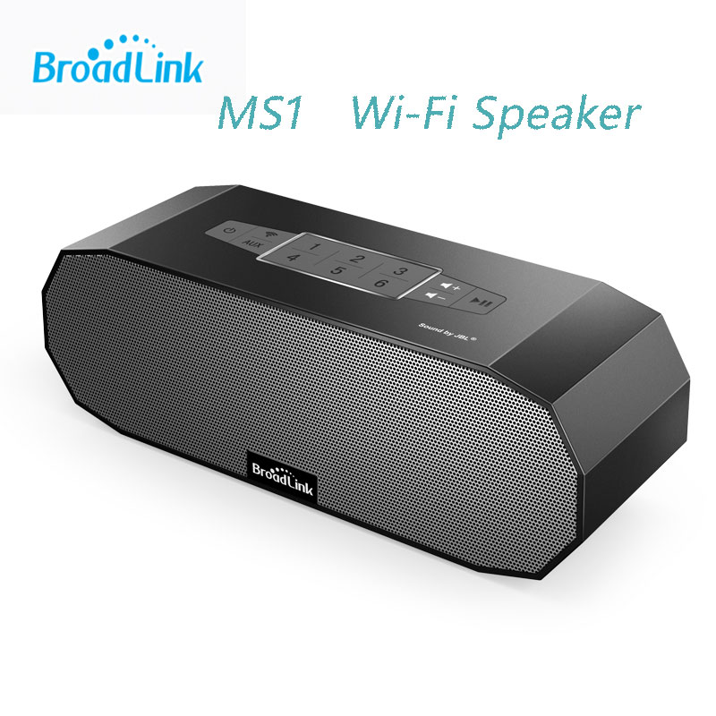 Broadlink MS1, WiFi Mini Wireless Bluetooth Portable Speaker Audio Ndfeb Magnet Dual Stereo+Dual Passive Radiator Smart Home t050 3w mini portable retractable stereo speaker w tf black golden 16gb max
