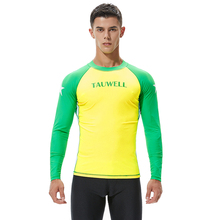 Newest Long Sleeves Surfing T-shirts Mens Swimwear Beach Rash Guards Men Surfing Suit Male Diving Suit Yellow Green Patchwork gsou snow brand wetsuit diving swimming suit men long sleeve surfing rash guards swimwear summer beach water sports clothes