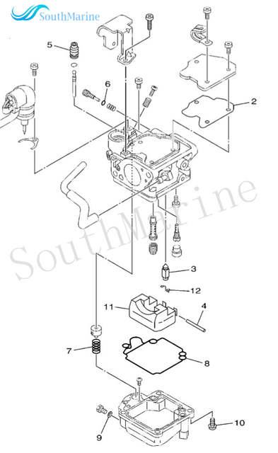US $19.08 17% OFF|6BL W0093 00 00 Carburetor Repair Kit for Yamaha on