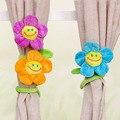 Tieback cortina plush clipe flexível flor grampos para a menina dos desenhos animados brinquedos para decoração de casa presente bonito lotes para a venda por atacado
