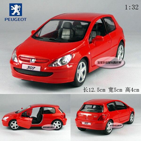 free shipping 1:32 Soft world kinsmart pulchritudinous peugeot 307 xsi red alloy car models