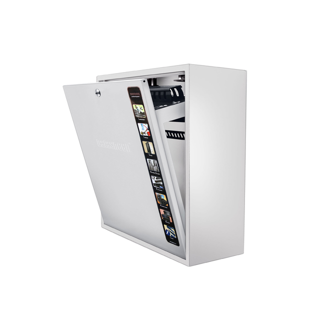 Beau 4U Slim Detachable Door Wall Cabinets Wall Mounted Network Switches Small  Computer Cabinets White
