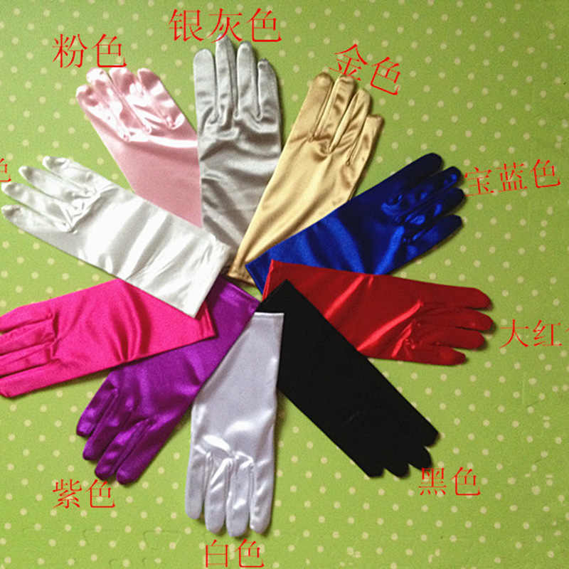 Kobiety elastyczność elastan spektakl taneczny krótkie rękawiczki moda Halloween do tańca Party profesjonalne Cosplay księżniczka rękawiczki A41