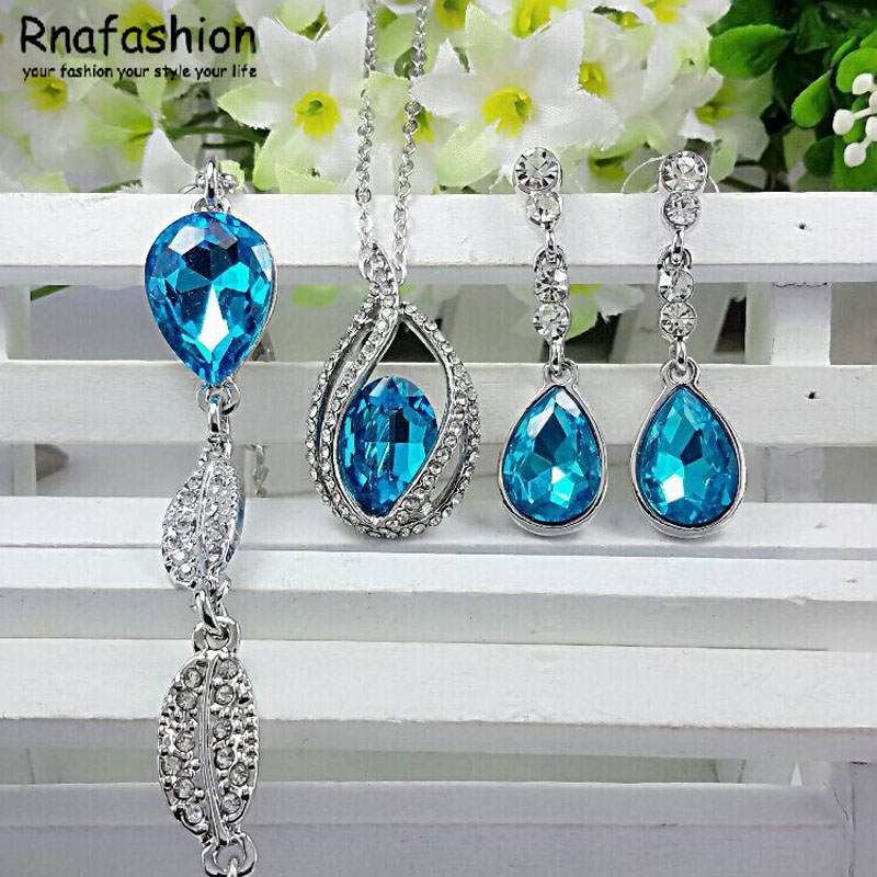 Fashion Crystal ets Pendant Necklace Bracelet Bangles Water s