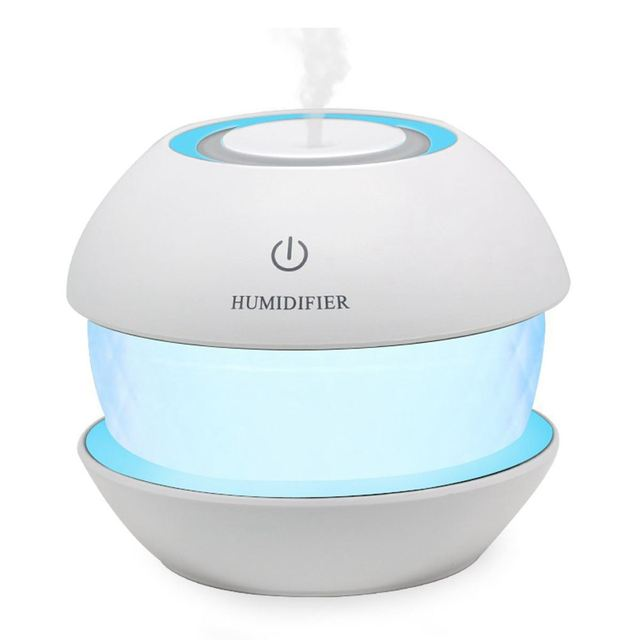 150ml Ultrasonic  Mist Diffuser Small Air Humidifiers USB Charge /Touch Switch /Whisper-quiet /7 Color Night Light Home Car Baby
