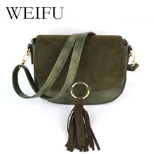 New grinding women bag fashion women's Single shoulder bag Tassel saddle Circle the single shoulder bag