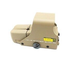 Image 1 - 戦術的な 551 ホロサイトミニリフレックスレッド光学照準ライフルスコープ狩猟エアガン 20 ミリメートルマウントドロップシッピング