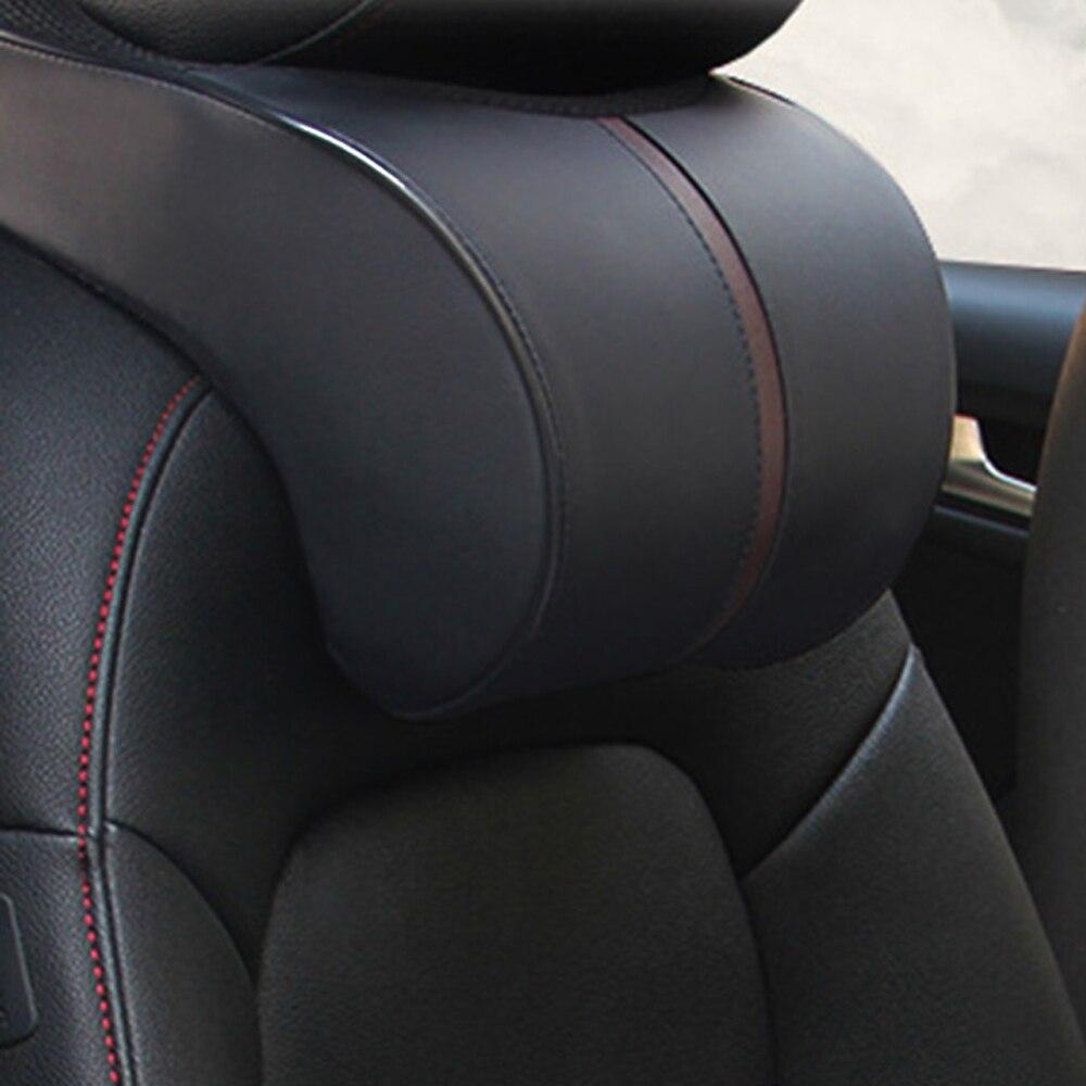 VODOOL หน่วยความจำผ้าฝ้ายรถ Auto Headrest คอความปลอดภัยที่นั่งสนับสนุนหัวรถคอ REST หมอนเบาะรถจัดแต่งทรงผ...