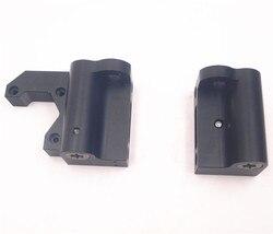 Funssor 1 zestaw Anet/Prusa i3 MK2/MK3 anodowane na czarno aluminium X silnik/X koła zestaw metalowy X koniec silnika/koniec koła pośredniego