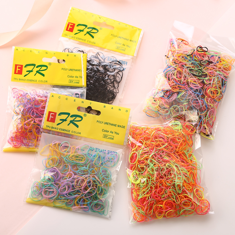 Apparel Accessories ... Headwear ... 32366479240 ... 2 ... AIKELINA 1000pcs/bag (small package) New Child Baby TPU Hair Holders Rubber Bands Elastics Girl's Tie Gum Hair Accessories ...