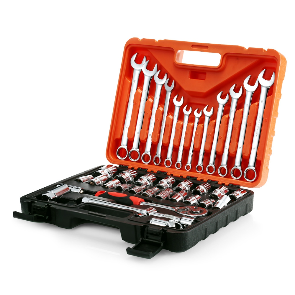 Professional 37pcs Car Repair Tools Socket Ratchet Wrench Automobile Repair Tools Kit Ratchet Wrench Combo Hand Tools NEW sale