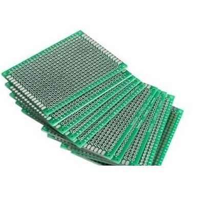 Prototipo de doble cara PCB estañado Universal Placa de pruebas 5x7 cm 50mm x 70mm FR4