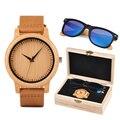 Рождественский подарок BOBO BIRD индивидуализированные деревянные часы и солнцезащитные очки подарочный набор для мужчин и женщин подарок для...