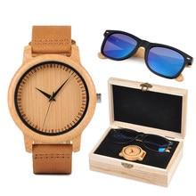 a5ed0d05e17 Presente de natal BOBO Personalizado PÁSSARO Relógio e Óculos de Sol de  Madeira Jogo Do Presente para Os Homens As Mulheres Pres.