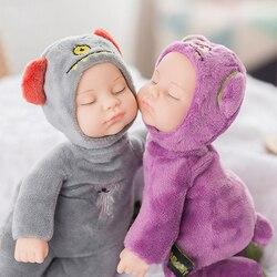 25 cm mini stuffed born boneca brinquedos para crianças silicone renascer vivo bebês lifelike crianças brinquedos sono reborn boneca para o brinquedo do miúdo