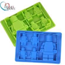 1 шт., силиконовая форма для маффинов, Лего и робота