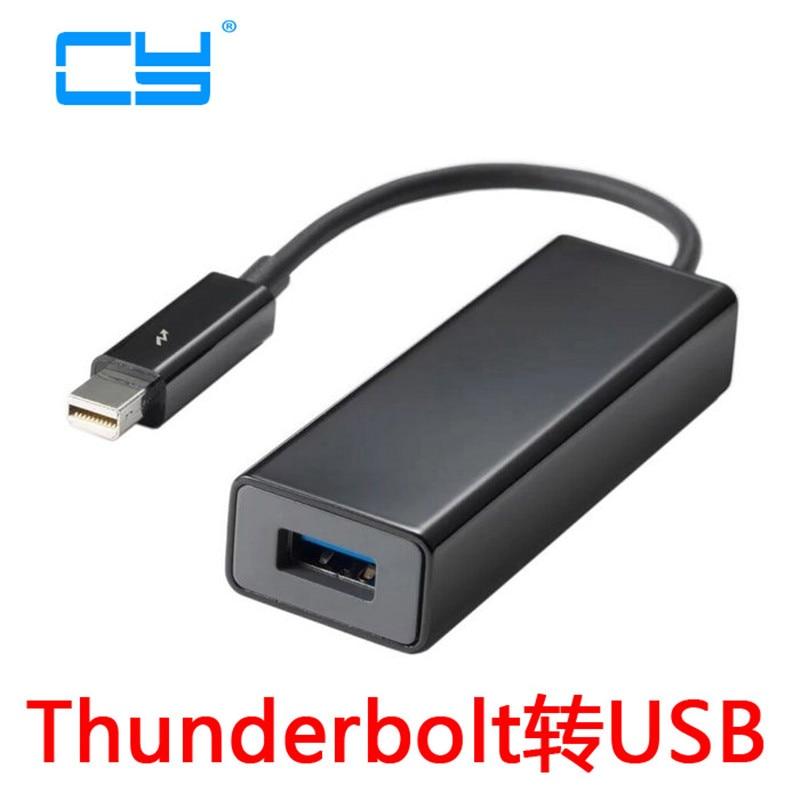 Thunderbolt Port to USB 3.0 Super Speed Hard Disk Drive Adapter Dongle 15cm цена и фото