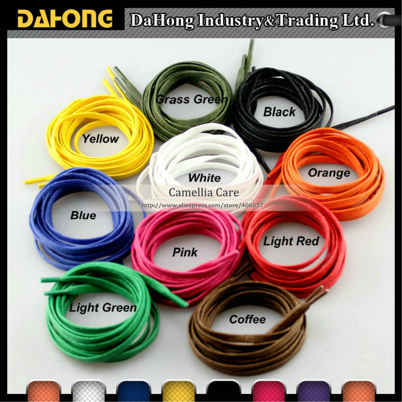5mm flat waxed cotton shoelace for sale, 9 colors 45 neon orange 5 16 flat shoelace for all basketball shoes