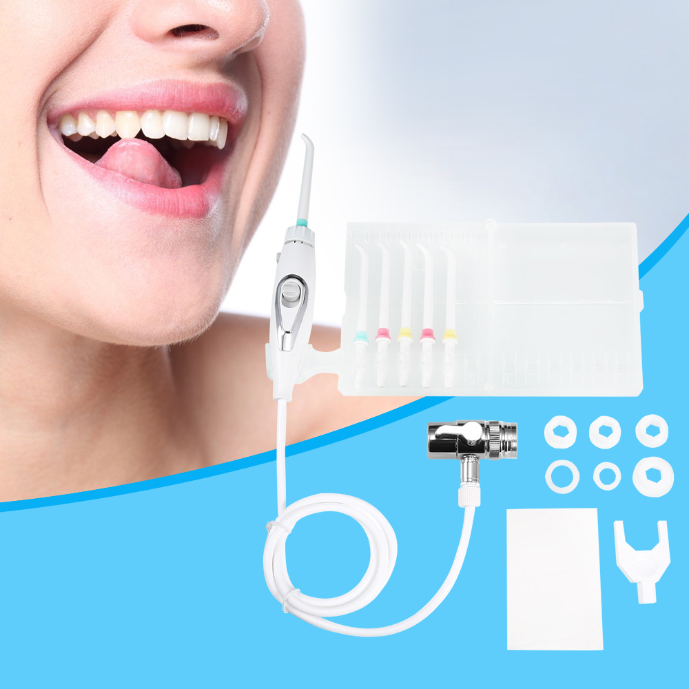 Oral Irrigator Faucet Water Flosser Power Dental Water Jet Oral Care Teeth Cleaner SPA Dental Irrigator Irrigation With 6 Tips oral irrigator faucet water flosser power dental water jet oral care teeth cleaner spa dental irrigator irrigation with 6 tips