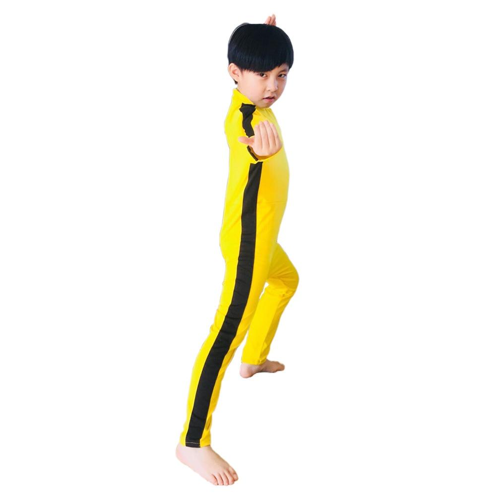 Image 2 - Adult Kids Bruce Lee Cosplay Jeet Kune Do Uniform Unisex Yellow Jumpsuit Chinese Kung Fu Training Suit Game of Death CostumeMovie & TV costumes   -
