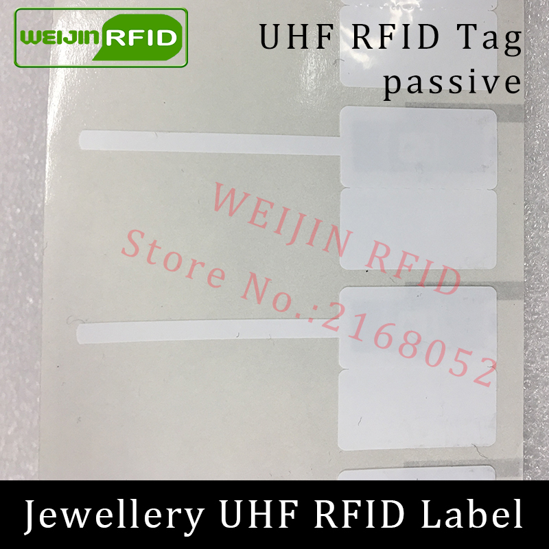 UHF RFID jewelry Jewellery watch tag EPC 6C sticker 915m 868m 860-960MHZ M4e small adhensive printable passive RFID PET label prorab epc 4