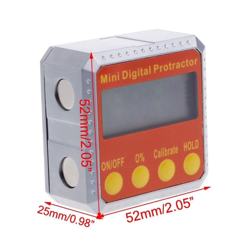1 pc 360 digital transferidor inclinômetro eletrônico