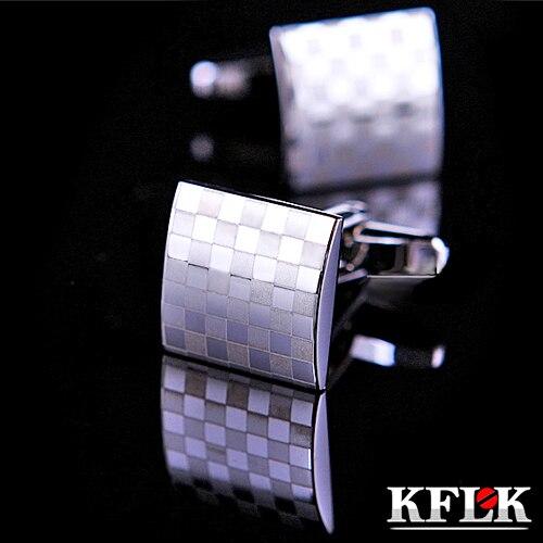 KFLK Luxe CHAUDE Marque manchette boutons de chemise boutons de manchette pour hommes boutons de manchette Bon Marché TOP Haute Qualité Argent abotoaduras Bijoux