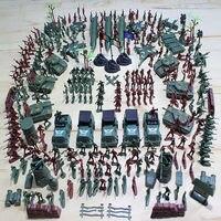 301PCS World War II Sand Table Model Suit Creative Gift Boy Toy Soldier Suit Plastic Model
