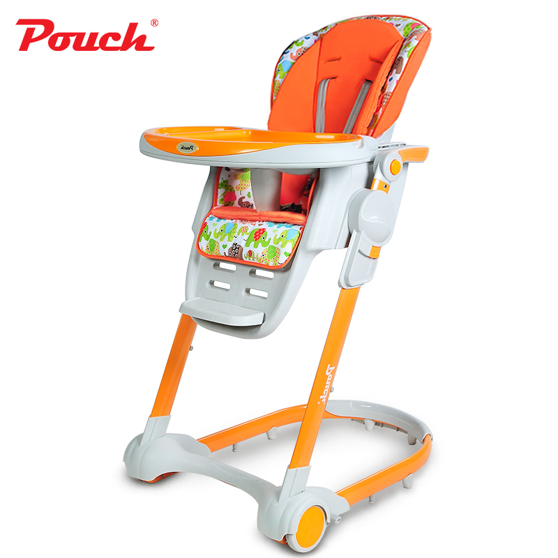 pouch baby high chair folding seat adjustable highchair portable baby dining table child feeding chair