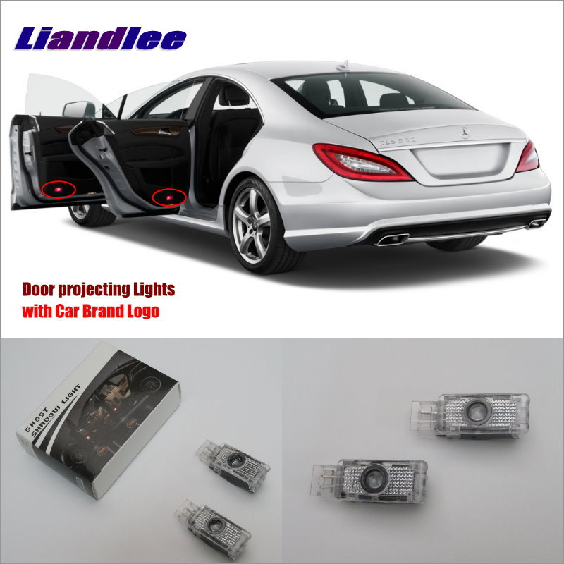 Liandlee Car LED Courtesy Welcome Lights For Mercedes Benz C W209 2001~2007 Projector Light Of Car Projector Vehicle Door Lamp