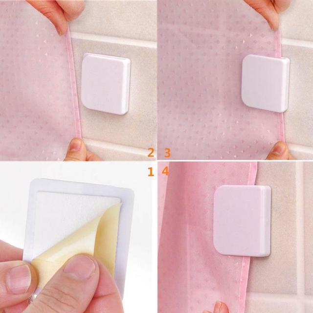 2 sztuk prysznic klipy kurtyny Anti Splash wyciek zatrzymać wyciek wody straży łazienka