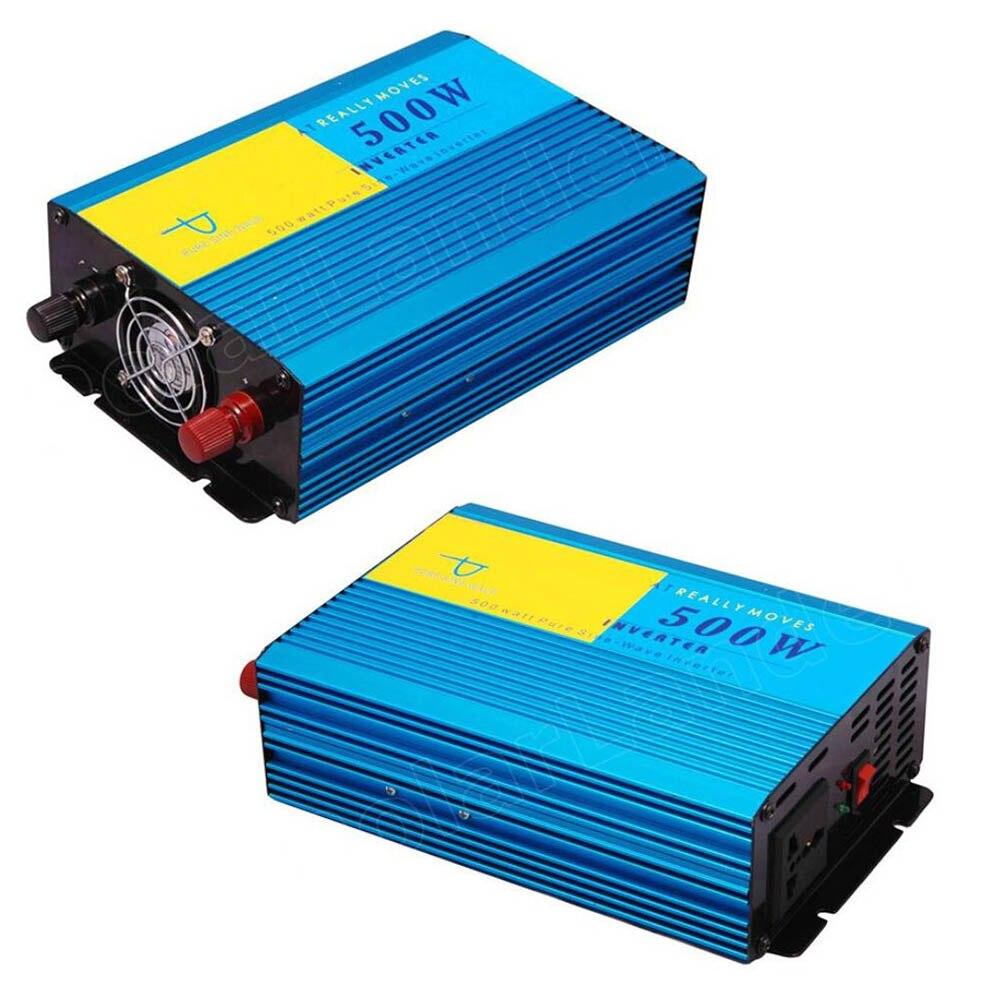 Car Inverter DC 24V to AC 220V Vehicle Charger Transformer Pure Sine Wave 500W 50HZ Power supply switch converter